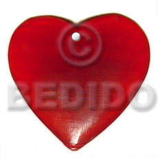 Red heart horn 40mm