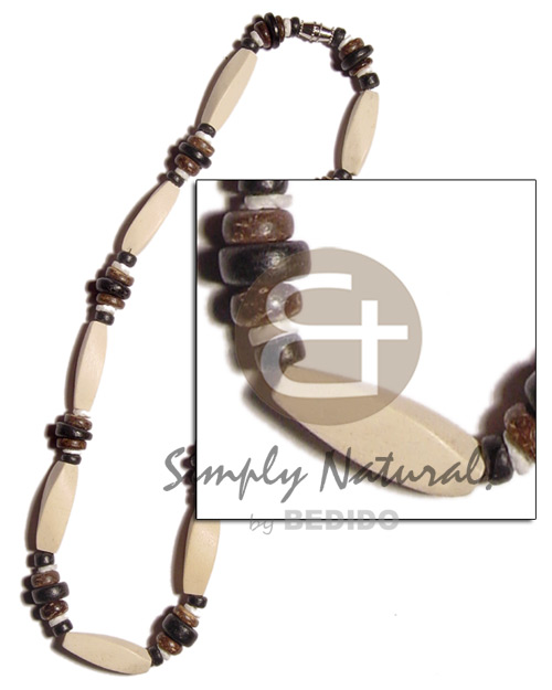Bleach twisted wood beads