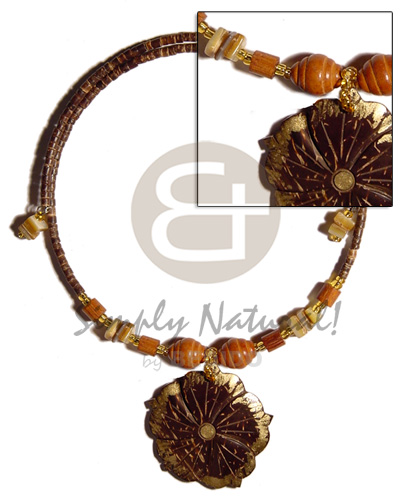 45mm flower coco gold Adjustable Necklace