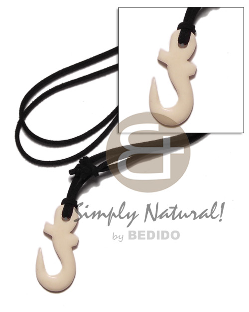 40mm celtic carabao white bone Adjustable Necklace
