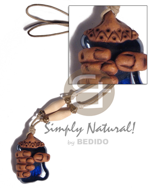 40mmx30mm clay fingers Adjustable Necklace