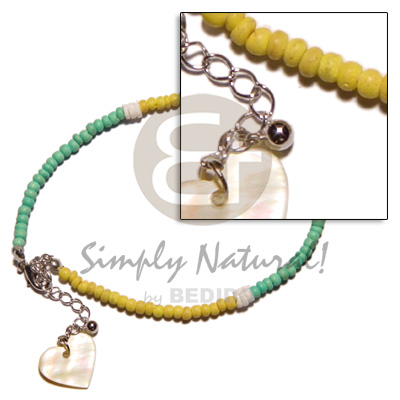 Yellogreen 2-3mm coco pokalet Anklets