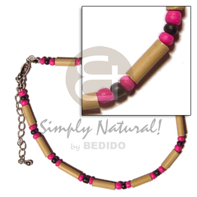 Bamboo 2-3mm Black Pink Coco
