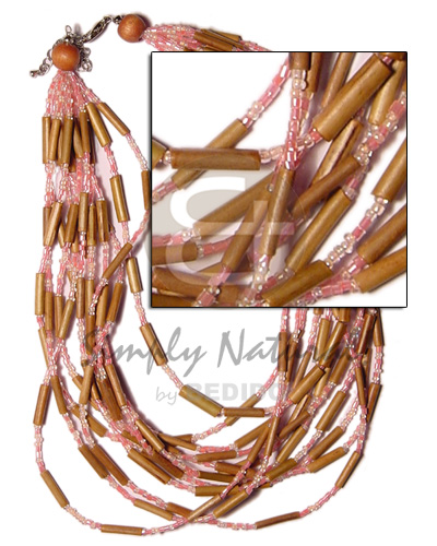 12 layer bamboo tube Bamboo Necklace
