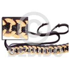 Natural ring coco belts Belts