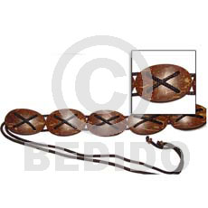 Oval coco natural brown belt Belts