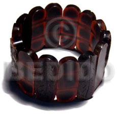 Elastic capsule amber horn bangle Bone Bangles