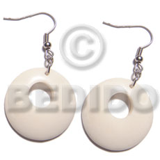 dangling round 35mm carabao horn  14mm hole - Bone Earrings Horn Earrings