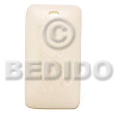 Rectangular bone carving 40mm Bone Pendants