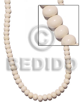 White Bone Beads 7mmx9mm