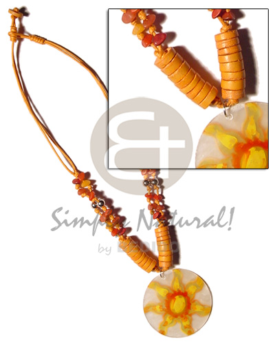 2 layer knotted orange cord Bright & Vivid Color Necklace