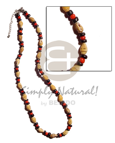 Nassa tiger 4-5mm black Bright & Vivid Color Necklace