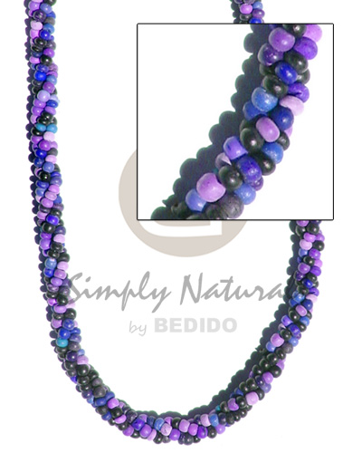 3 layers twisted 2-3mm Bright & Vivid Color Necklace