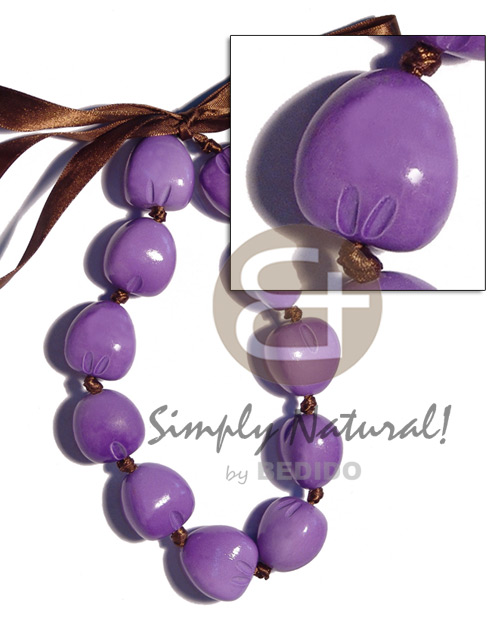 Kukui nut choker in Bright & Vivid Color Necklace