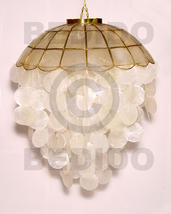"hand made 16"" ball natural capiz shell Capiz Shell Wind Chimes"