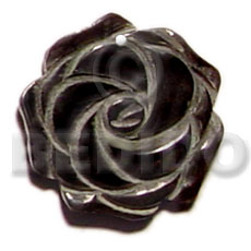 Rose carving black pin 40mm Carved Pendants