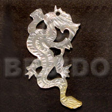 Flying mop dragon carving 45mm Carved Pendants