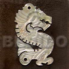 hand made Dragon carving mop 45mm Carved Pendants
