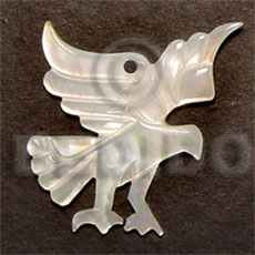 Eagle mop carving 45mm Carved Pendants