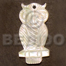 hand made Owl mop carving 40mm Carved Pendants