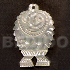 Owl mop carving 40mm Carved Pendants