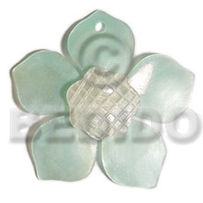 45mm turquoise hammershell flower Carved Pendants