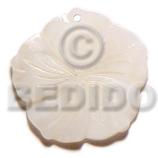 35mm kabibe flower Carved Pendants