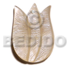 Tulip hammershell 40mm Carved Pendants