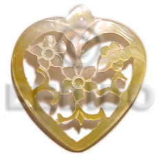 hand made 40mm carved heart mop Carved Pendants