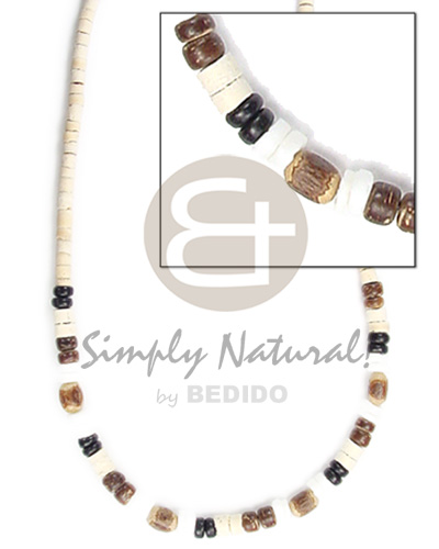 2-3mm coco pokalet heishe Choker Necklace