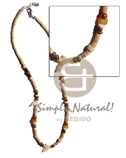 2-3mm coco heishe natural white Choker Necklace