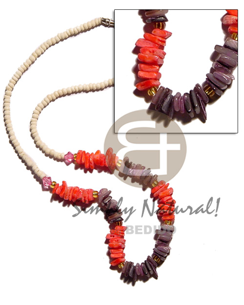 2-3mm coco pokalet. bleach Choker Necklace