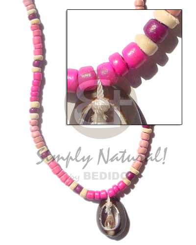 4-5mm coco pukalet in pink Choker Necklace