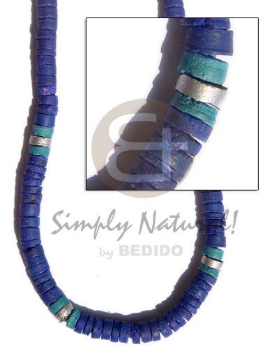 4-5 mm blue coco heishe Choker Necklace