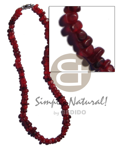 Red carabao horn nuggets Choker Necklace