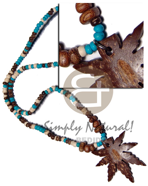 2-3mm coco pokalet. wood Choker Necklace