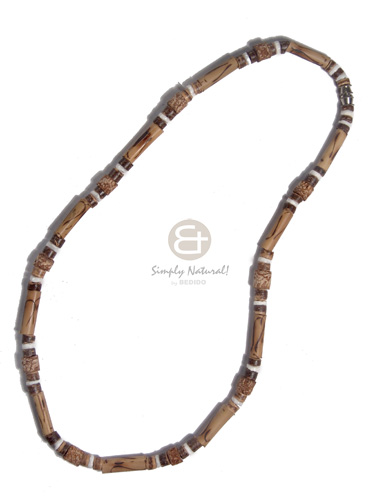 4-5mm coco heishe tiger Choker Necklace
