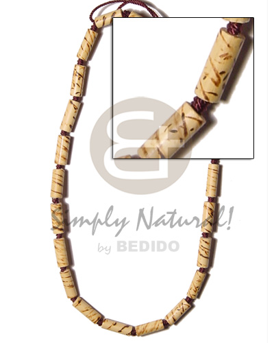 Bamboo macramie splashing wood Choker Necklace