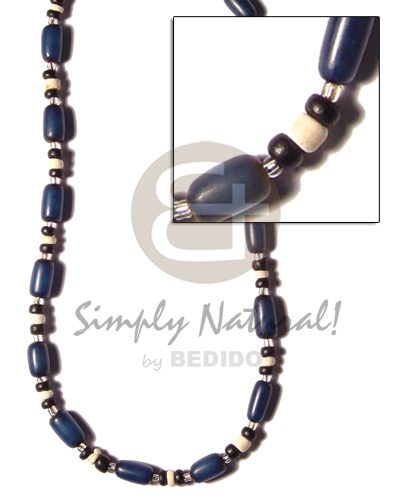 Navy blue buri seed Choker Necklace