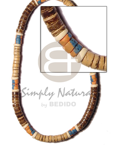 Elastic 7-8mm coco natural and Choker Necklace