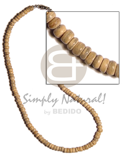 4-5mm coco pokalet natural Choker Necklace