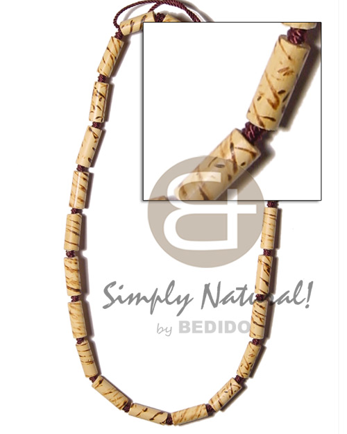 Bamboo macrame splashing wood Choker Necklace