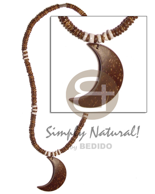 hand made 4-5mm natural brown coco pokalet Choker Necklace