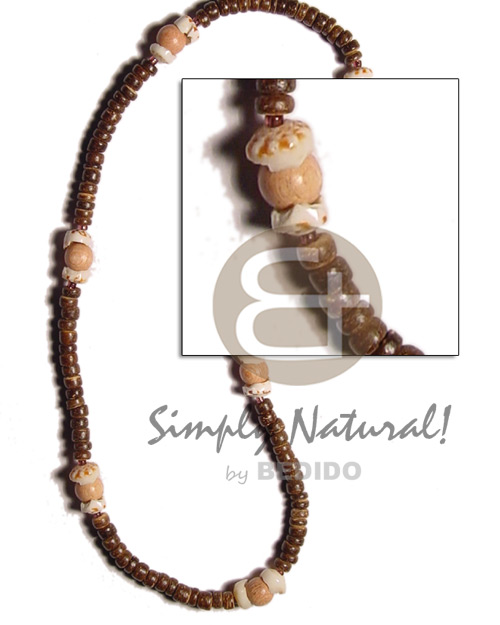 2-3mm coco natural brown Choker Necklace