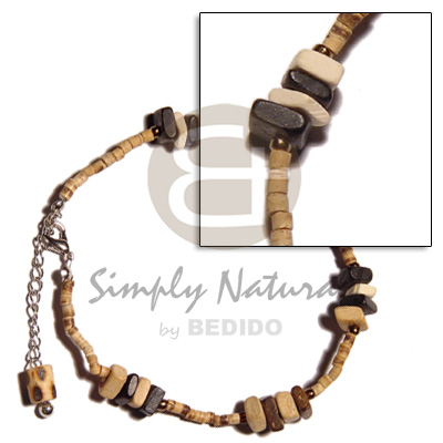 hand made 2-3 coco heishe natural Coco Anklets