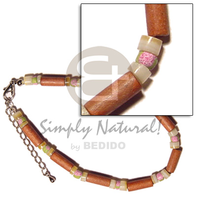 Bayong wood tube gold Coco Anklets