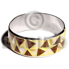 Laminated inlaid crazy cut coco Coco Bangles