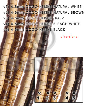 4-5mm coco heishe black Coco Beads