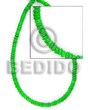 "4-5 mm ""lime green "" Coco Beads"