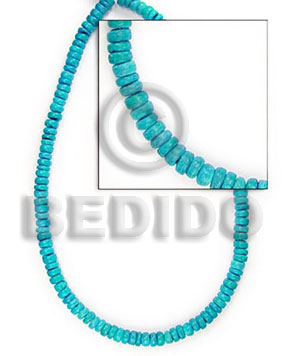 "hand made 4-5 mm ""turquoise"" coco pokalet Coco Beads"